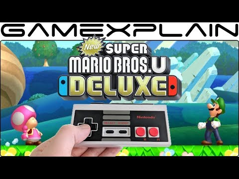 Does The Switch's NES Controller Work With New Super Mario Bros. U Deluxe? (& GameCube Controller!)