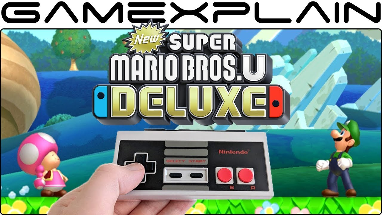 Does the Switch's NES Controller Work With New Super Mario Bros  U Deluxe?  (& GameCube Controller!)