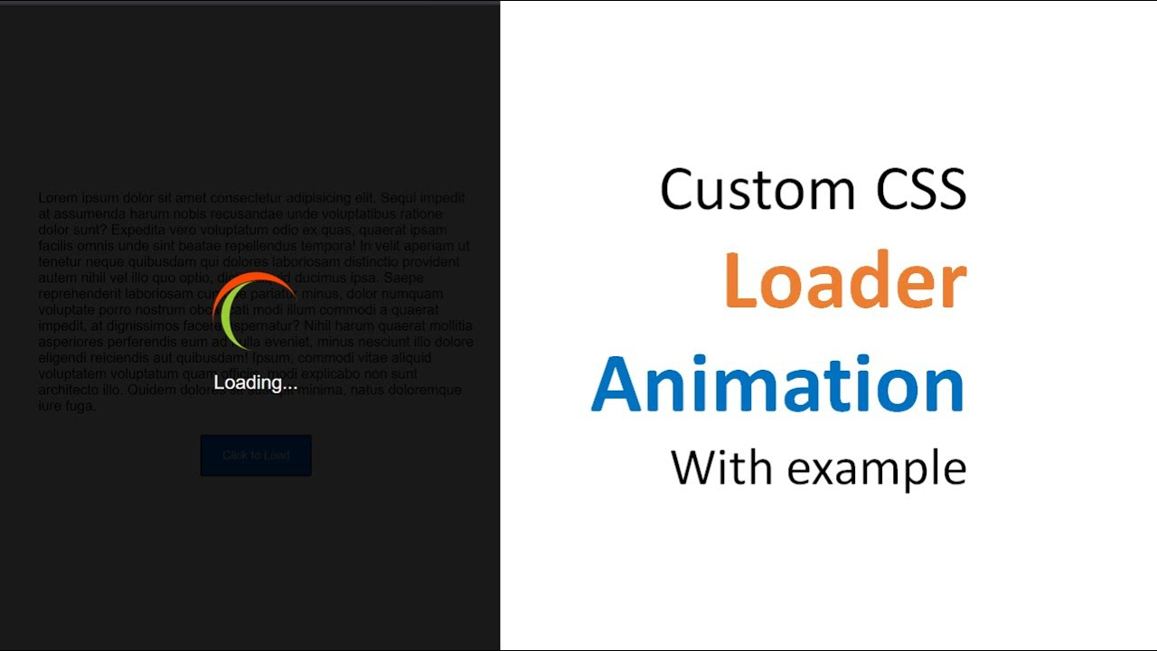 Custom CSS loader | Pure CSS loader for website | Loader animation using CSS