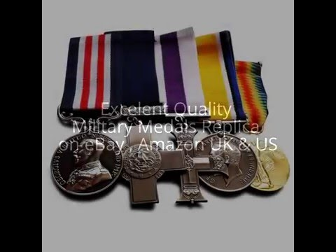Military Medals Group Set : George Cross , Military Cross , British War Medal & Victory Medal