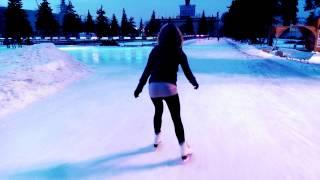 Бесплатный каток на ВДНХ - отличный лёд!