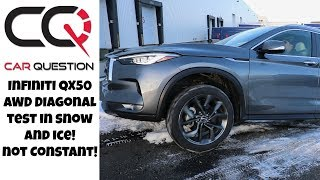 Infiniti QX50 AWD Diagonal Test | It