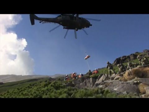 Japan Volcano Rescue Effort From the Ground