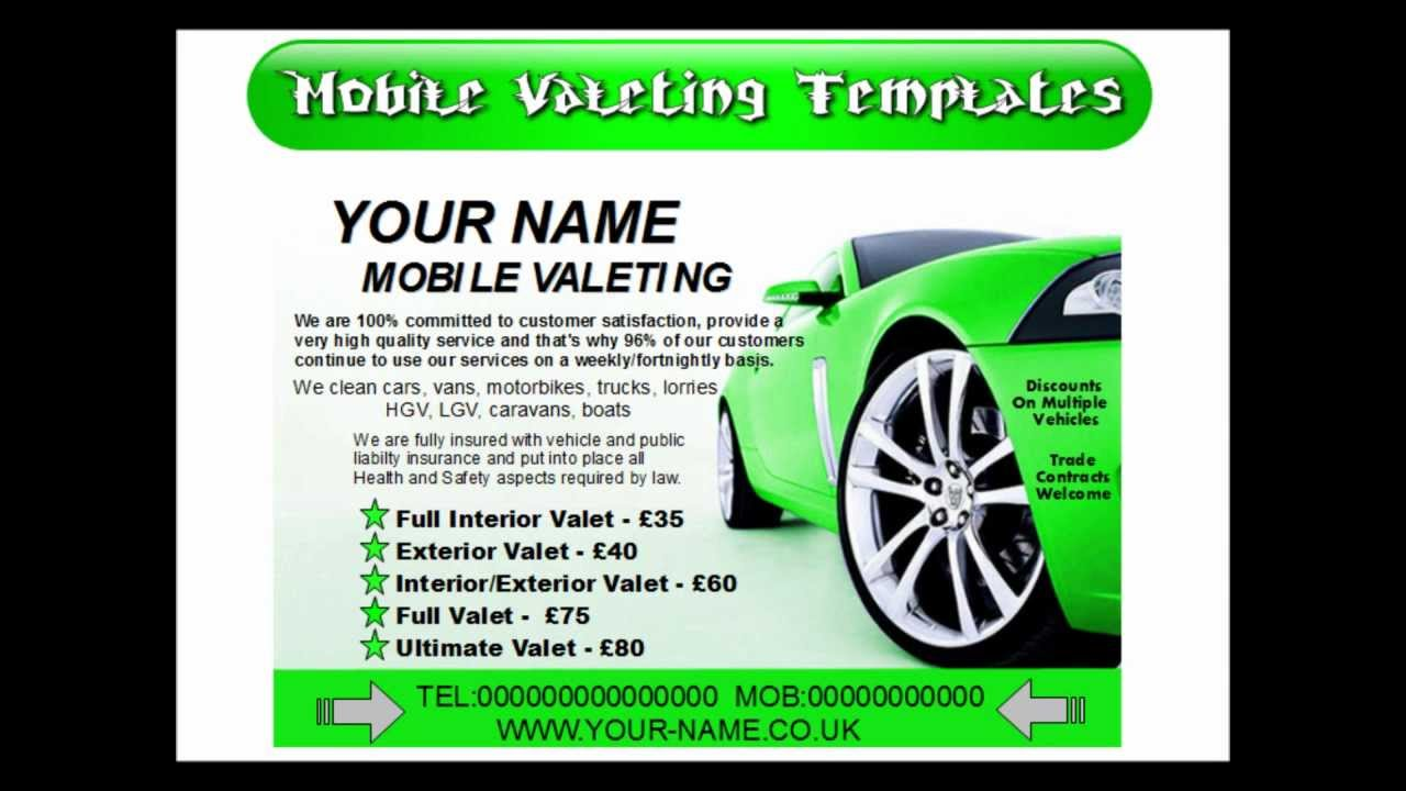 mobile valeting leaflets mobile car valeting leaflet mobile valeting leaflets mobile car valeting leaflet