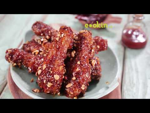 Cookin.Id Productions : Dakganjeong (Ayam Asam Manis Pedas Ala Korea)