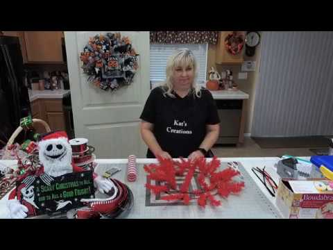 Nightmare Before Christmas Jack Wreath