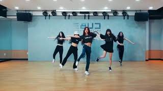 (G)I-DLE - HANN dance practice  (mirrored + 50% slowed)