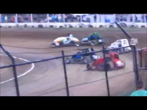 Creek County Speedway Non-Wing Champ Sprints Heat #2 9/20/14