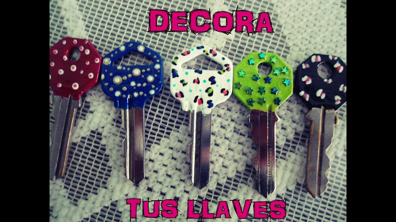 Llaves decoradas con esmalte de u as youtube for Decoracion de unas con esmalte