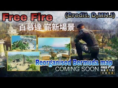 Free Fire Bermuda map reorganised new update | credit D,MNJ Channel/mono gamer