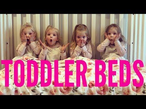 QUADRUPLETS GET THEIR TODDLER BEDS!