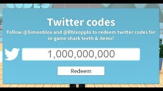ALL THE NEW CODES IN SHARKBITE!!! (Roblox)