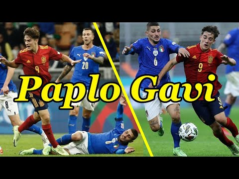 Paplo Gavi vs Italy  Debut For Spain 06/10/2021 HD Only 17 years