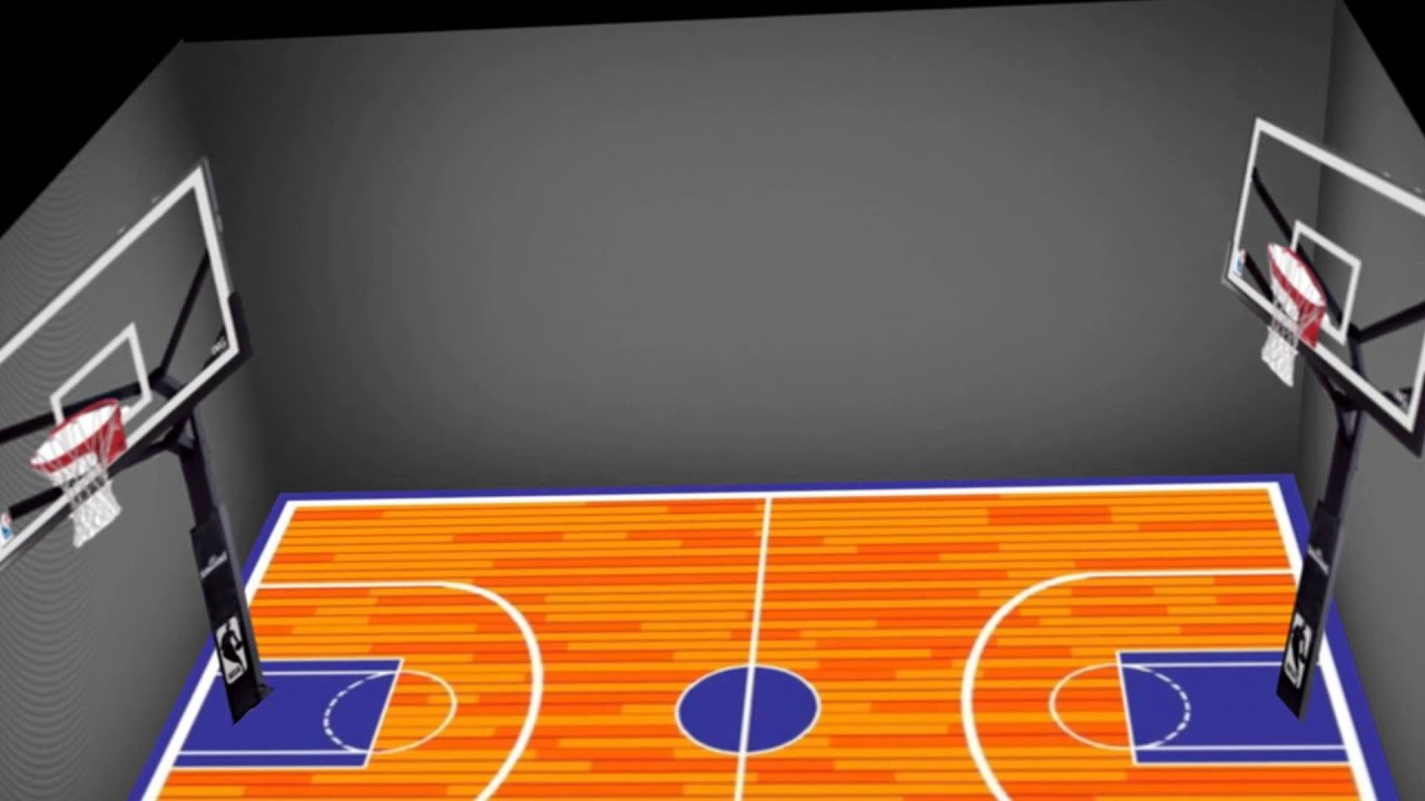 Basic 3d basketball court youtube for How to build basketball court