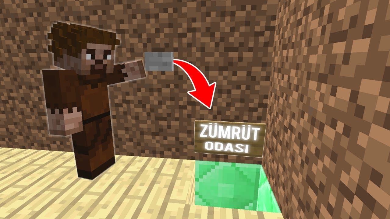 FAKİR EVDE GİZLİ BÖLGE BULDU! 😱 - Minecraft