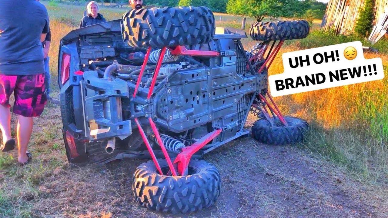 Polaris RZR Crash Rollover - YouTube |Polaris Rzr Crash
