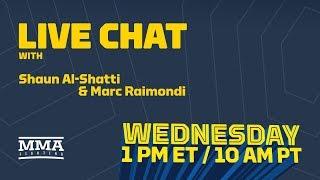 Live Chat: Stipe Miocic Grievances, Brendan Schaub vs. Dana White, Cris Cyborg, More - MMA Fighting