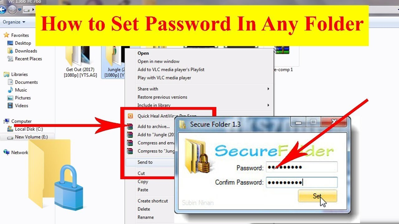 how to keep a password for a folder