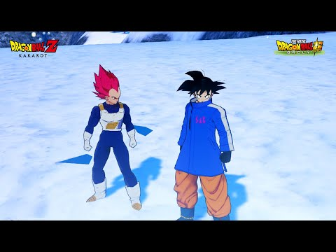 Dragon Ball Z Kakarot - New Sab Jacket Goku w/Transformations SSJ-SSG-SSB MOD (Showcase)