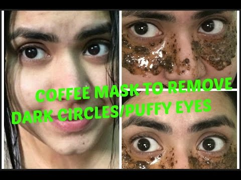 How to get rid of dark circles, puffy eyes instantly | DIY | Coffee mask | SimpleTips Anwesha