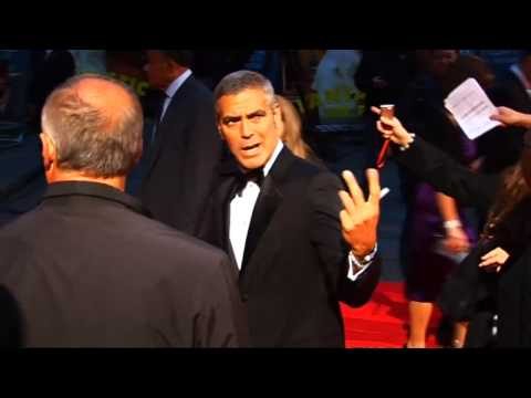 George Clooney at world premiere of Fantastic Mr Fox