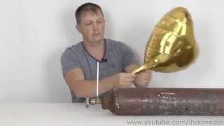 видео Воздушные фольгированные шары: как надувать