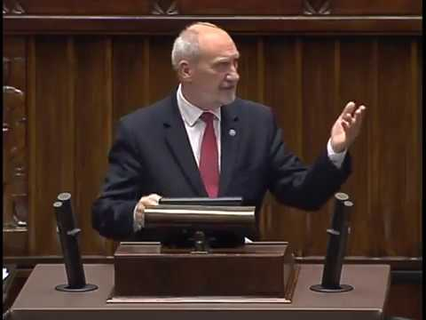 Antoni Macierewicz - wystąpienie z 12 września 2017 r.