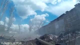 Авдеевка  Промзона  реальний бой ВСУ 24.04.16 АТО 2016