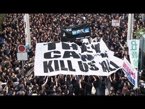 Hong Kong: grande manifestation pour la liberté de la presse