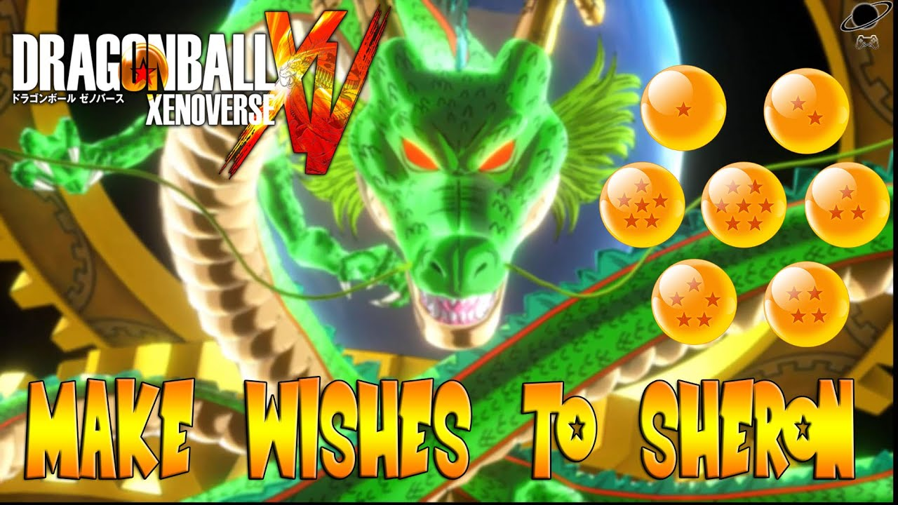 Dragon ball xenoverse make wishes to sheron pide deseos a sheron