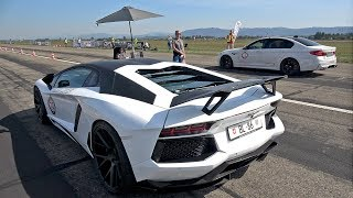 Novitec Torado Lamborghini Aventador LP700 Straight Piped vs BMW M5 F90