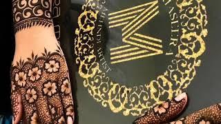 Easy & Stylish mehndi design for back hand side |