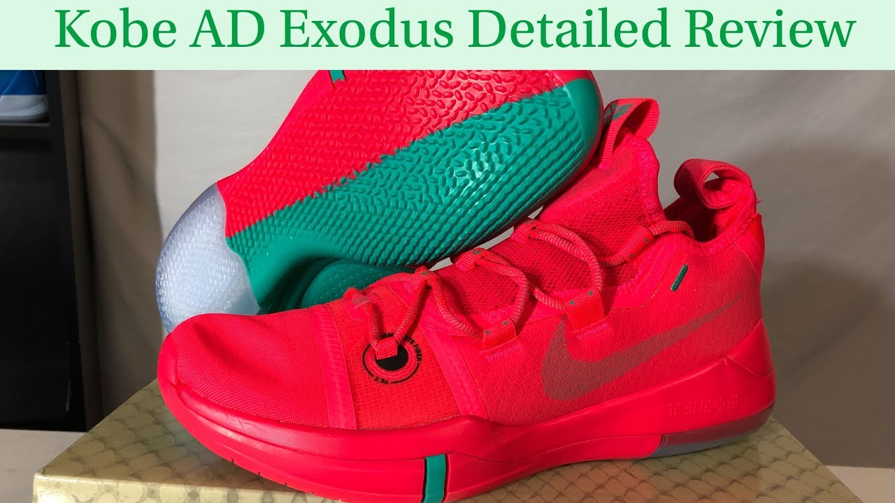 separation shoes 231ab 3cf1b Nike Kobe AD Exodus Color Pack Red Green Detailed Look and Review