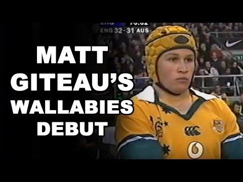 Matt Giteau's Wallabies Debut