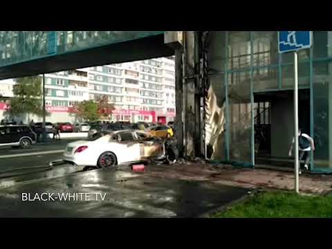 На Рублёвском шоссе сгорел Мерседес