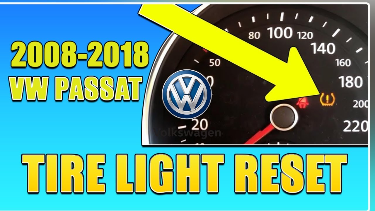 Volkswagen Passat Tire Pressure Light Reset For 2012 To 2018 Vw 2010 Tiguan Fuse Box Tpms Solution