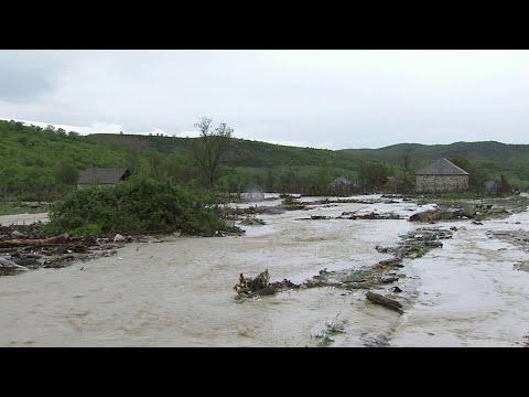 В Дагестане из-за проливных дождей пострадали несколько населенных пунктов.