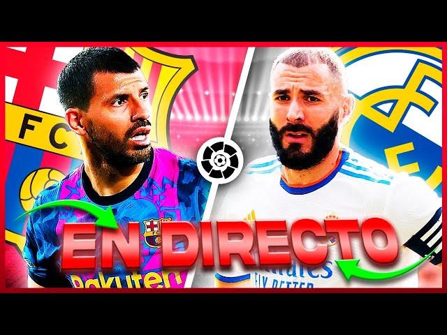 Barcelona vs Real Madrid EN VIVO ⚽ ¡EL CLASICO ESPAÑOL! 🔥
