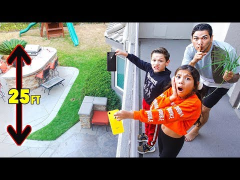 LAST TO DROP iPHONE WINS $5,000!! **GONE WRONG** | Familia Diamond
