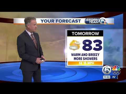 Latest Weather Forecast 11 p.m. Monday
