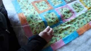 "Quilting: How To Tie A Quilt Using The ""hidden Tie"" Or ""international Stitch"""