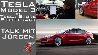 Tesla Model 3 im Tesla Store Stuttgart + Talk mit Jürgen über Elektromobilität