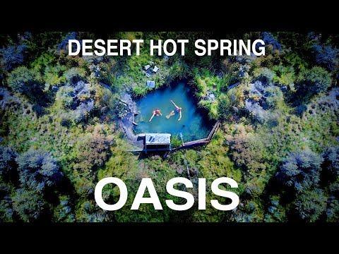 DESERT HOT SPRING OASIS - BUSH PLANE VLOG