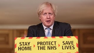 British Prime Minister Boris Johnson lays out a plan to exit the lockdown in Great Britain