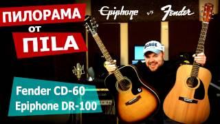 Обзор бюджетных акустических гитар Fender CD-60 и Epiphone DR-100 от ПИЛОРАМА