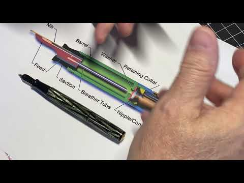 OGG Flex Pens Video #55:  Waterman Ink Vue Description , Repair, Review thumbnail