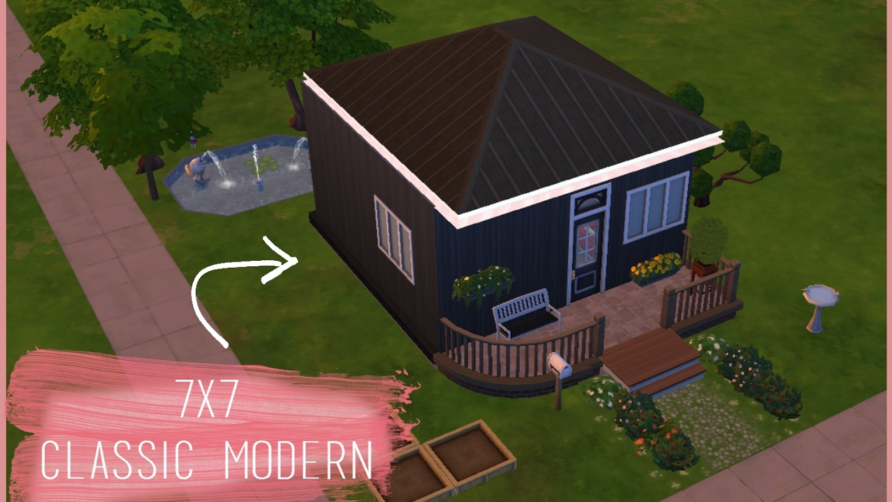 Sims 4 39 39 7x7 classic modern 39 39 youtube for 7x7 modern house