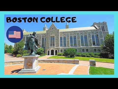 BOSTON COLLEGE, wonderful spectacular Gothic architecture of its Campus at Chestnut Hill (USA)