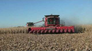 Farming in Iowa Case 8010 combines