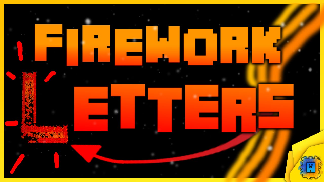 letters to numbers how to make firework letters and numbers in minecraft 1470
